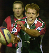© Peter Spurrier/Intersport Images .Tel + 441494783165 email images@Intersport-images.com.27/12/2003 - Photo  Peter Spurrier.2003/04 Zurich Rugby Premiership Leicester v Leeds..Tigers's Sam Vesty
