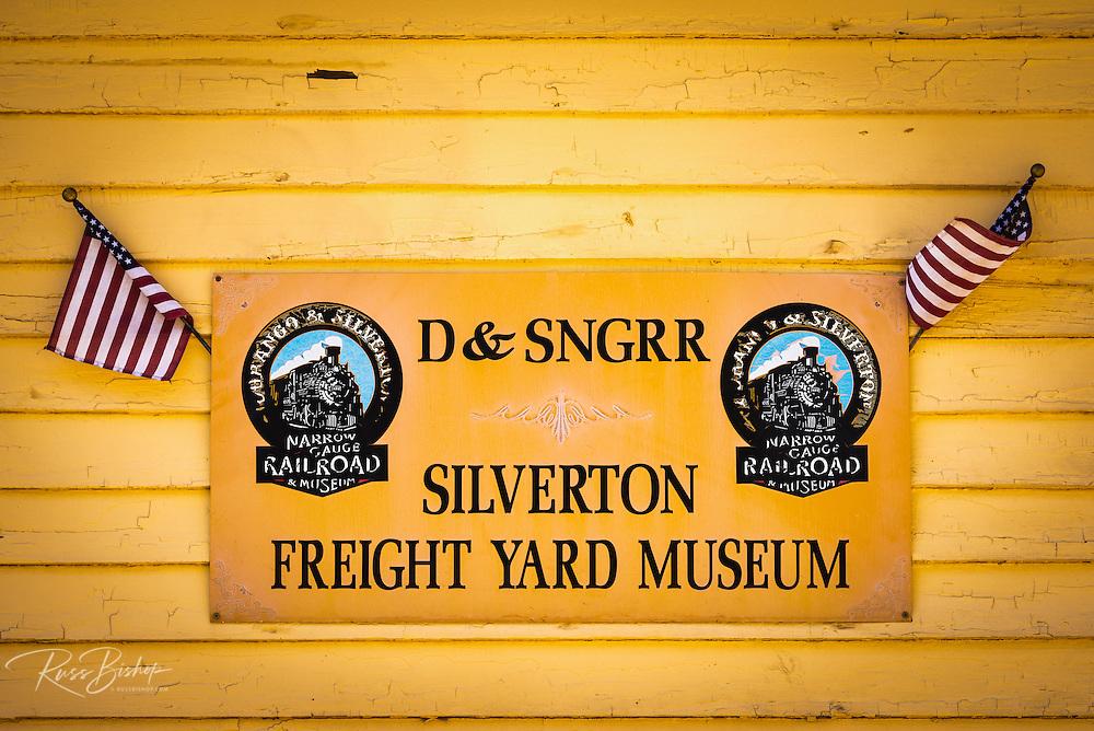 Durango & Silverton Narrow Gauge Railroad Freight Yard Museum, Silverton, Colorado USA