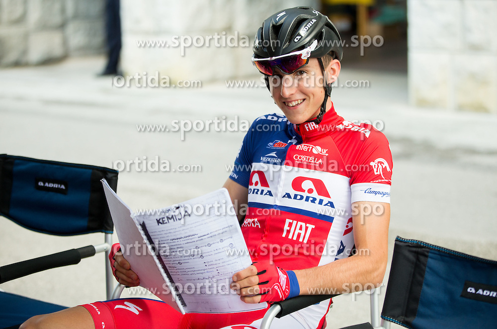 Per Gorazd (Slovenia) of Adria Mobil studying Chemistry prior to the Stage 2 of 23rd Tour of Slovenia 2016 / Tour de Slovenie from Nova Gorica to Golte  (217,2 km) cycling race on June 17, 2016 in Slovenia. Photo by Vid Ponikvar / Sportida