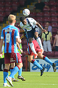 Fred Onyedinma  during the Sky Bet League 1 match between Scunthorpe United and Millwall at Glanford Park, Scunthorpe, England on 22 August 2015. Photo by Ian Lyall.