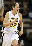 19 February 2009: Iowa forward Wendy Ausdemore (32) sticks out her tongue after making a basket during the second half of an NCAA women's college basketball game Thursday, February 19, 2009, at Carver-Hawkeye Arena in Iowa City, Iowa. Iowa defeated Wisconsin 72-65.