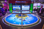 UNITED KINGDOM, London: 02 February 2016 Visitors try their luck at boat racing at this years ICE Totally Gaming Convention held at the Excel Arena, East London. The three day event is the world's premier international expo for gaming and gambling professionals. Rick Findler / Story Picture Agency
