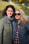 Kimberly Szabo and Shawna Szabo pose for a portrait after visiting the gravesite of Susan B. Anthony, the social reformer who played a key part in the movement for women's suffrage, at Mount Hope Cemetery in Rochester on Tuesday, November 8, 2016.<br /> <br /> &quot;It's wonderful to pay tribute to a hero of equal rights. The feeling of being able to vote for a woman for President of the United States is very emotional and moving.&quot;<br /> <br /> &quot;Being here [with my sister] means everything.&quot;<br /> <br /> &quot;I think [Hillary] will be an amazing president not only for women, but for every American.&quot;