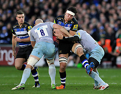 Francois Louw of Bath Rugby takes on the Northampton Saints defence - Mandatory byline: Patrick Khachfe/JMP - 07966 386802 - 05/12/2015 - RUGBY UNION - The Recreation Ground - Bath, England - Bath Rugby v Northampton Saints - Aviva Premiership.