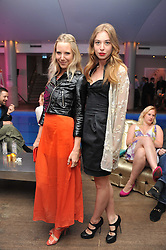 Left to right, ALICE DAWSON and ANOUSKA BECKWITH at a pool party to celebrate the UK launch of the Omega Ladymatic Collection held at the Haymarket Hotel, Haymarket, London on 16th June 2011.