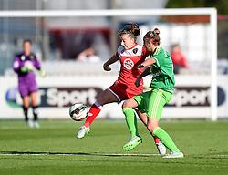 Bristol Academy's Christie Murray competes with Sunderland AFC Ladies' Kiera Ramshaw - Mandatory by-line: Paul Knight/JMP - 25/07/2015 - SPORT - FOOTBALL - Bristol, England - Stoke Gifford Stadium - Bristol Academy Women v Sunderland AFC Ladies - FA Women's Super League