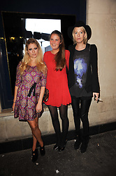Left to right, VIOLET HENDERSON, VICTORIA VON WESTENHOLZ and the HON.SOPHIA HESKETH at the Tatler Little Black Book Party held at Tramp, 40 Jermyn Street, London on 3rd November 2010.