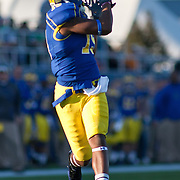 11/12/11 Newark DE: Delaware Wide receiver Nihja White #19 attempts to catch a during a Week 10 NCAA football game.<br /> <br /> Delaware defeated Richmond 24-10 in front of 18, 808 fans at Delaware Stadium on Saturday Nov. 12, 2011 in Newark Delaware...Special to The News Journal/SAQUAN STIMPSON