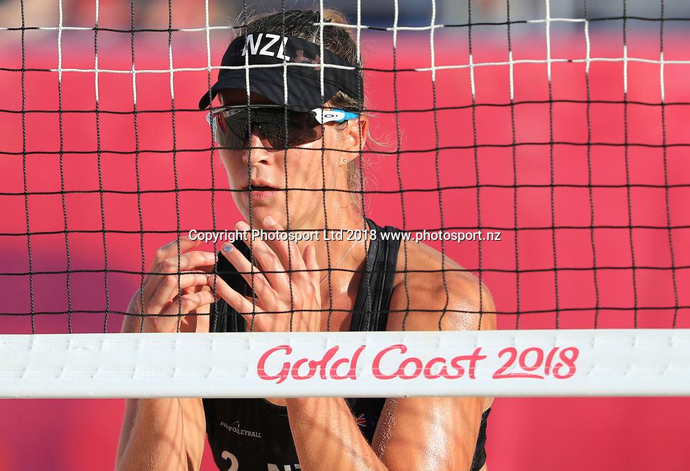 New Zealand's Kelsie Wills. New Zealand v Vanuatu. Womens Beach Volleyball. Commonwealth Games, Gold Coast, Australia. Monday 9 April, 2018. Copyright photo: John Cowpland / www.photosport.nz