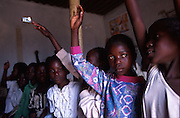 Aids orphans at a learning centre on the outskirts of Lusaka, Zambia