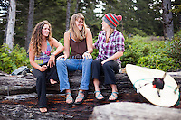 Group of women at Oswald West State Park, OR.