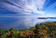 Autumn photos, pictures, images, in the Upper Peninsula of Michigan,Sugarloaf Mountain overlook, Lake Superior, Marquette MI