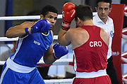 Paul Gerard Omba Biongolo (FRA) competes on Men's 91 kg boxingduring the Jeux Mediterraneens 2018, in Tarragona, Spain, Day 8, on June 29, 2018 - Photo Stephane Kempinaire / KMSP / ProSportsImages / DPPI