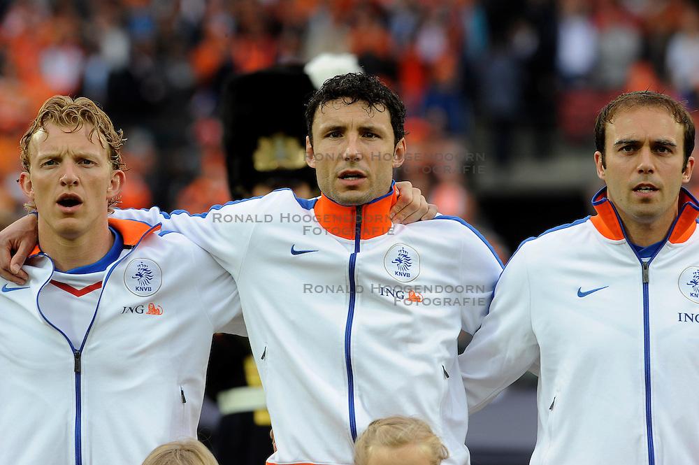 01-06-2010 VOETBAL: NEDERLAND - GHANA: ROTTERDAM<br /> Nederland wint vrij eenvoudig de oefenwedstrijd van Ghana / Joris Mathijsen, Dirk Kuyt en Mark van Bommel<br /> &copy;2010-WWW.FOTOHOOGENDOORN.NL