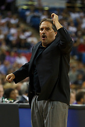 March 9, 2011; Sacramento, CA, USA;  Orlando Magic head coach Stan Van Gundy on the sidelines against the Sacramento Kings during the first quarter at the Power Balance Pavilion. Orlando defeated Sacramento 106-102.