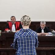 Amina Tyler ( Sboui) in aula di Tribunale a Sousse Tunisia