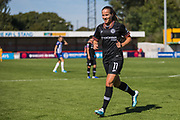 Guro Reiten (Chelsea) off for the ball to take a corner kick during the FA Women's Super League match between Brighton and Hove Albion Women and Chelsea at The People's Pension Stadium, Crawley, England on 15 September 2019.