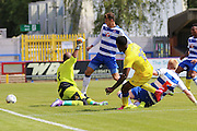 AC Wimbledon striker Dom Poleon makes it 2-0 to AFC Wimbledon during the Pre-Season Friendly match between AFC Wimbledon and Reading at the Cherry Red Records Stadium, Kingston, England on 23 July 2016. Photo by Stuart Butcher.