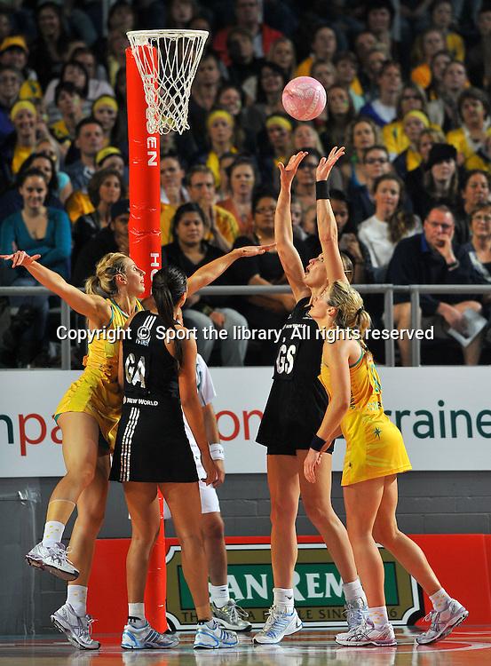 Irene Van Dyk (NZ)<br /> 2011 Holden Netball Test Series<br /> Australia vs New Zealand <br />  Sunday 30 October 2011<br /> Hisense Arena/ Melbourne Australia <br /> &copy; Sport the library / Jeff Crow