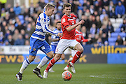 Reading FC striker Matej Vydra lining up to shoot during the The FA Cup fourth round match between Reading and Walsall at the Madejski Stadium, Reading, England on 30 January 2016. Photo by Mark Davies.