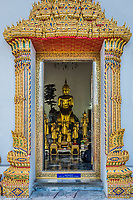 golden budha altar at Wat Pho temple Bangkok Thailand