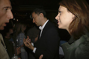 James Cracknell and Beverley Turner, Drinks at OQO, Islington Green  after  screening of ' Once In a Lifetime-Thje extraordinary Story of the New York Cosmos at the Screen On the Green, Islington. London. 15 May 2006. ONE TIME USE ONLY - DO NOT ARCHIVE  © Copyright Photograph by Dafydd Jones 66 Stockwell Park Rd. London SW9 0DA Tel 020 7733 0108 www.dafjones.com