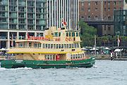 SYDNEY, AUSTRALIA - NOVEMBER 21, 2007: Unidentified people cross harbor by ferry in Sydney, Australia.