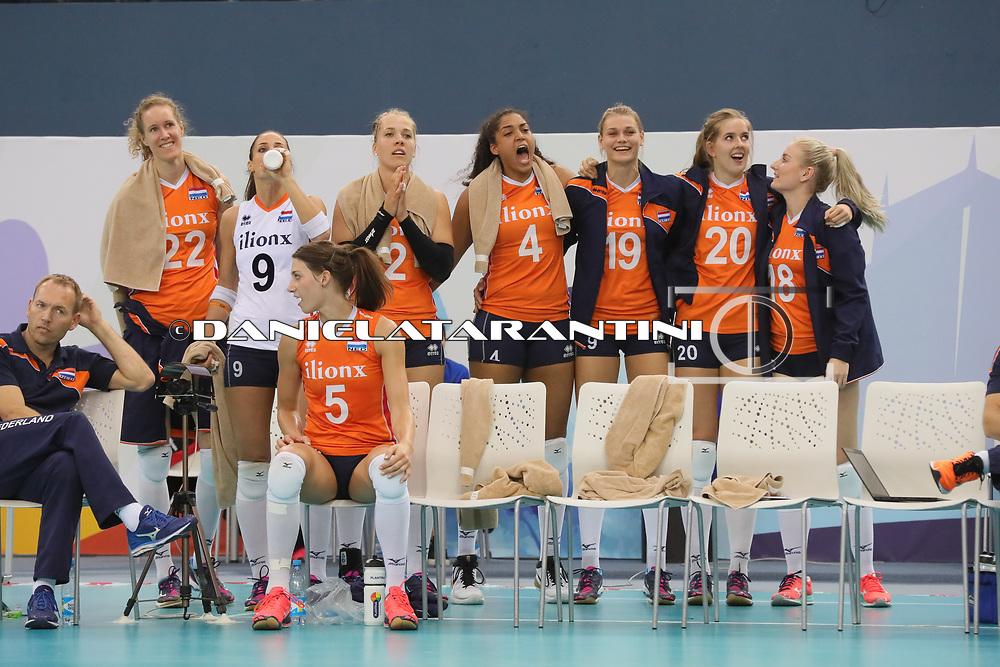 (NED - AZE CEV Volleyball European Championship - Women 2017 Europei pallavolo Quarti di Finale)