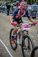 Savilla Blunk (USA) during the Women U23 Cross Country World Champs at the 2018 UCI MTB World Championships - Lenzerheide, Switzerland