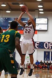 Jan 9, 2012; Moraga CA, USA;  St. Mary's Gaels forward Rob Jones (22) shoots over San Francisco Dons guard Rashad Green (13) during the first half at McKeon Pavilion.  Mandatory Credit: Jason O. Watson-US PRESSWIRE