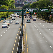Saturday morning traffic on Storrow Drive in Boston