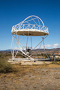 Parabolic disc at the solar energy scientific research centre, Tabernas, Almeria, Spain