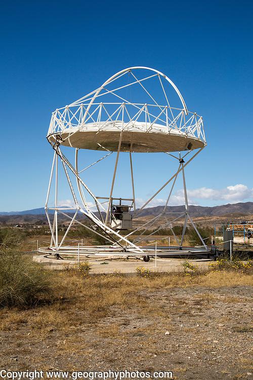 Parabolic disc at the solar energy scientific research centre, Tabernas, Almeria, Spain