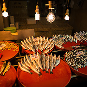 A store selling fish at Istanbul's Spice Bazaar. Located in the Eminonu quarter of Istanbul, next to the Galata Bridge, the Spice Bazaar is one of the city's largest and most famous markets. It is also known as the Egyptian Bazaar.