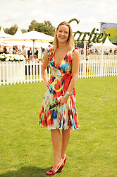 EMMA DHILLON at the Cartier International Polo at Guards Polo Club, Windsor Great Park, Berkshire on 25th July 2010.
