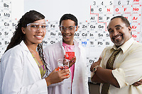 Science Students with Beakers