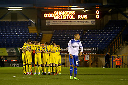 Bristol Rovers players huddle before kick off - Mandatory by-line: Matt McNulty/JMP - 14/03/2017 - FOOTBALL - Gigg Lane - Bury, England - Bury v Bristol Rovers - Sky Bet League One