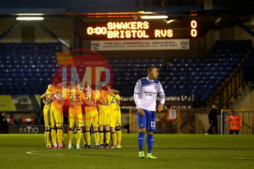 Bristol Rovers players huddle before kick off - Mandatory by-line: Matt McNulty/JMP - 14/03/2017 - FOOTBALL - Gigg Lane - Bury, England - Bury v Bristol Rovers - Sky Bet League One