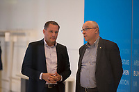 DEU, Deutschland, Germany, Berlin, 09.09.2019: Tino Chrupalla (MdB, AfD, Alternative für Deutschland) und Jens Maier (MdB, AfD) am Rande einer Fraktionssitzung im Deutschen Bundestag.