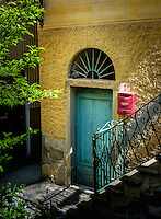MANAROLA, ITALY - CIRCA MAY 2015:  Door in the village of Manarola in Cinque Terre, Italy.