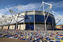 Tributes at Leicester City Football Club. PRESS ASSOCIATION Photo. Picture date: Friday November 2, 2018. Leicester Chairman, Vichai Srivaddhanaprabha, was among those to have tragically lost their lives on Saturday evening when a helicopter carrying him and four other people crashed outside King Power Stadium. See PA story SOCCER Leicester. Photo credit should read: Nigel French/PA Wire