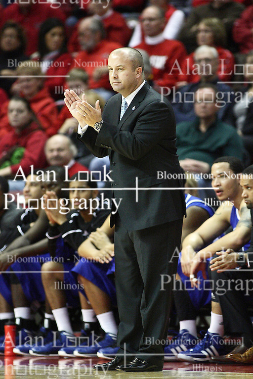 12 January 2013: Mark Phelps during an NCAA Missouri Valley Conference mens basketball game Where the Bulldogs of Drake Universitybeat the Illinois State Redbirds 82-77 in Redbird Arena, Normal IL