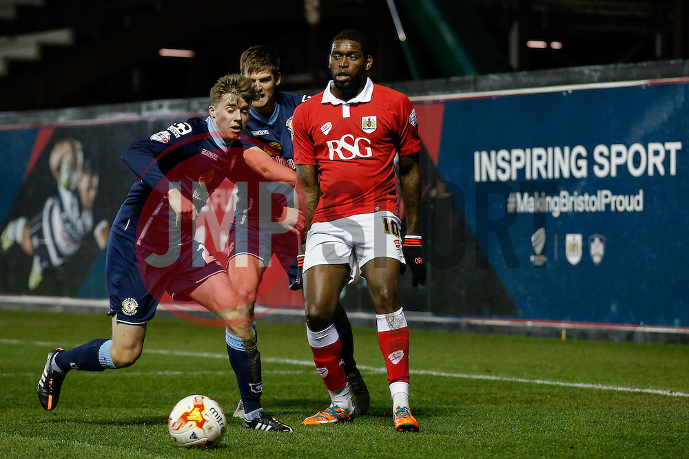 Jay Emmanuel-Thomas of Bristol City - Photo mandatory by-line: Rogan Thomson/JMP - 07966 386802 - 17/03/2015 - SPORT - FOOTBALL - Bristol, England - Ashton Gate Stadium - Bristol City v Crewe Alexandra - Sky Bet League 1.
