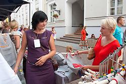 Women Shopping, Tartu Hanseatic Days 2010 , Estonia, Europe