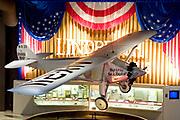 "Wisconsin, USA, Oshkosh, Air Venture Experimental Aviation Association (EAA) Museum, The ""Spirit of St. Louis"" Charles Lindbergh's plane, the first trans-Atlantic flight"
