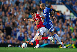 LONDON, ENGLAND - Saturday, August 20, 2011: Chelsea's Alex cannot halt West Bromwich Albion's Shane Long from scoring the opening goal during the Premiership match at Stamford Bridge. (Pic by David Rawcliffe/Propaganda)