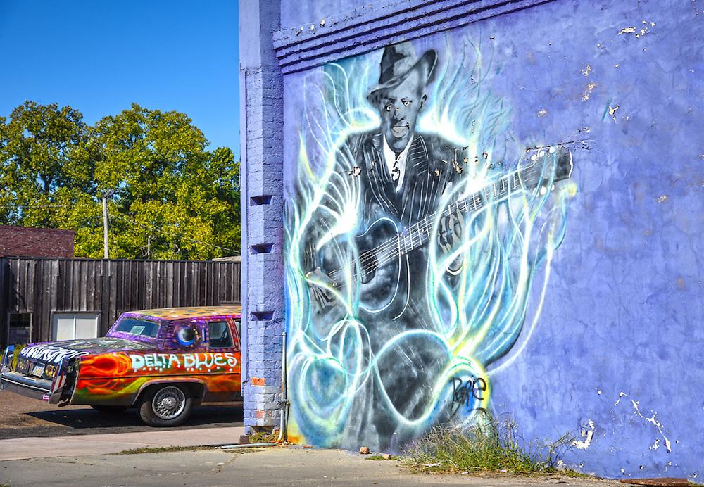 Clarksdale, MS_Robert Johnson Mural
