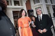ELIZABETH MCGOVERN, London fundraising dinner for President Barack Obama. <br /> <br /> Mark's Club, 46 Charles Street, London, W1J 5EJ, 19 September 2012