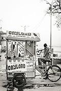 Icecream vendor in Varanasi (Benares), India