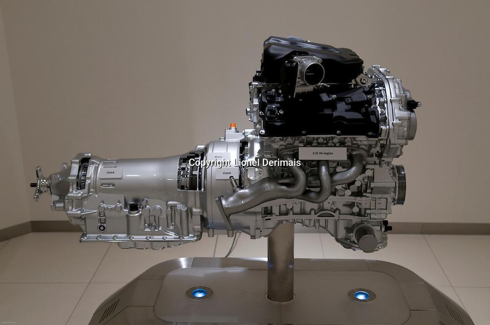 Nissan Infinity hybrid engine, Yokohama, Japan. 2009
